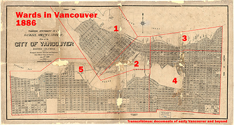 Vancouver divided into five wards – May 31, 1886