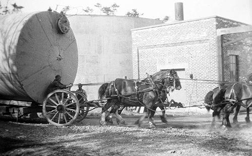 horse drawn tank