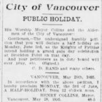 Half Holiday June 3 for Grand Lodge's Visit – May 27, 1895