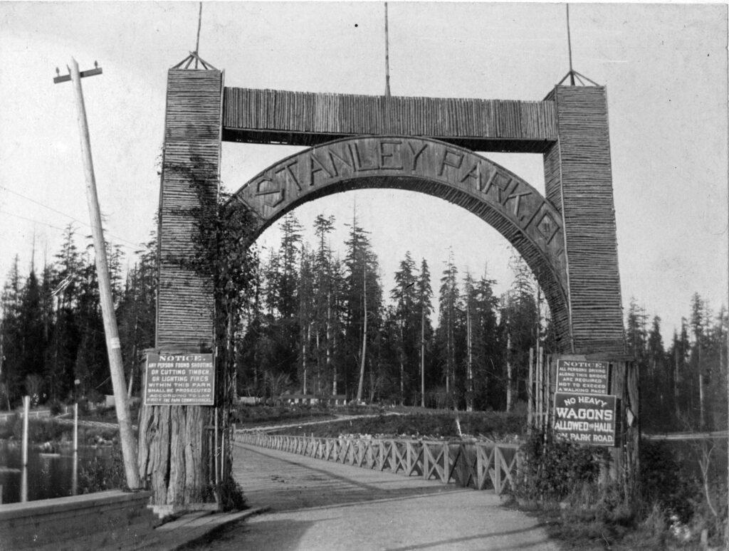 Stanley Park entrance at Georgia St., 1895