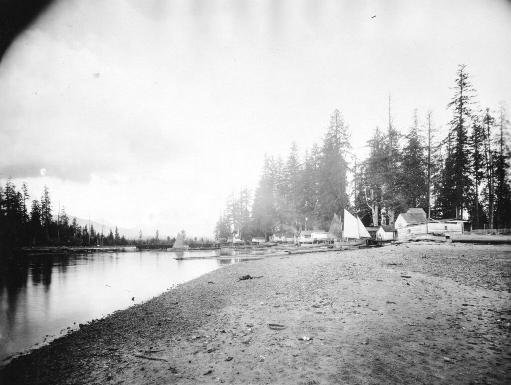 Squatters and boats on Deadman's Island 1895