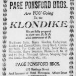 Klondike Ad from 1897 Vancouver Daily World
