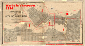 Wards in Vancouver 1886