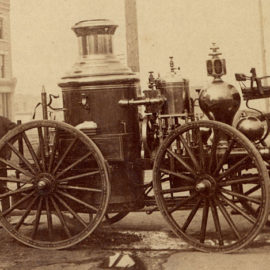Fire engine arrives in Vancouver – August 6, 1886