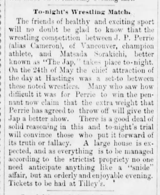License fees for wrestlers reduced to $10 per show – June 30, 1890