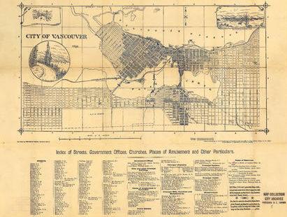 image of Stuart's pocket map of Vancouver