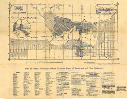 image of Stuart's pocket map of Vancouver