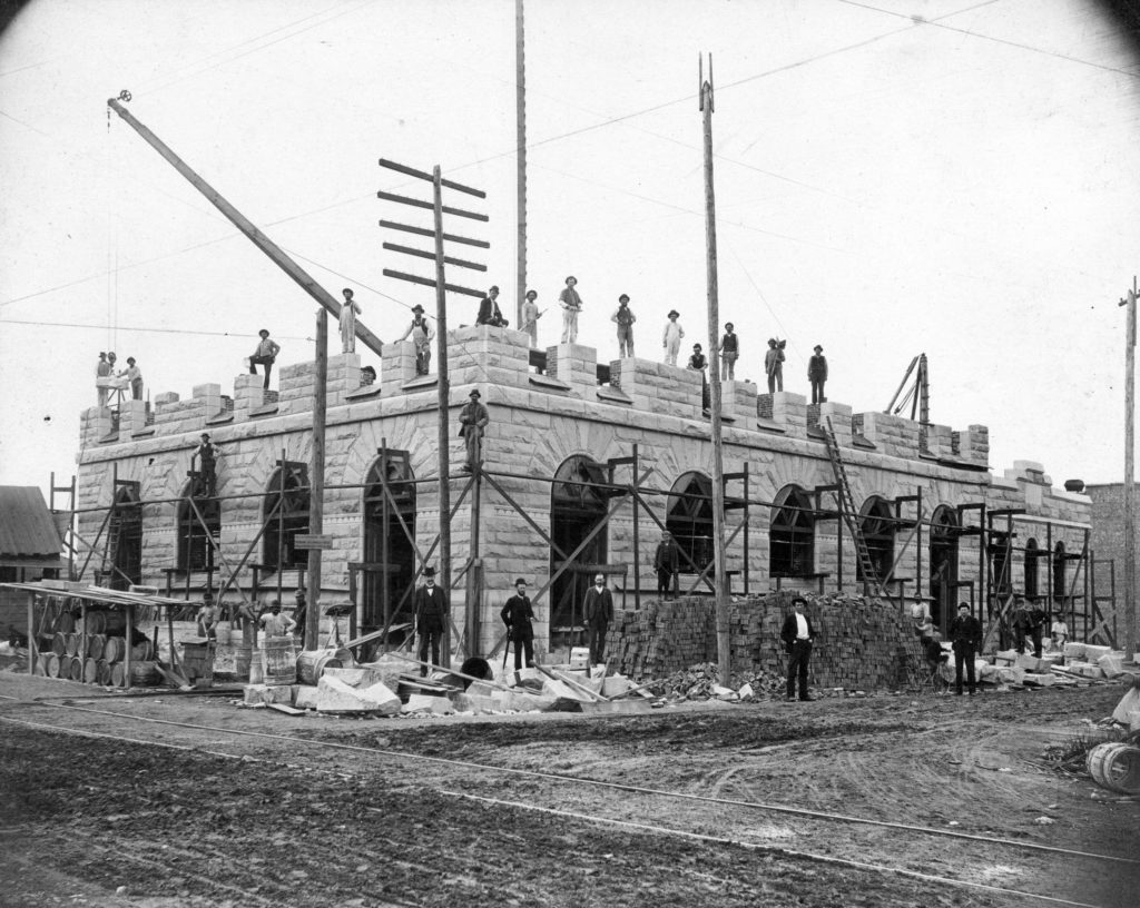 Granville Street post office (now Sinclair Center) under construction, 1891