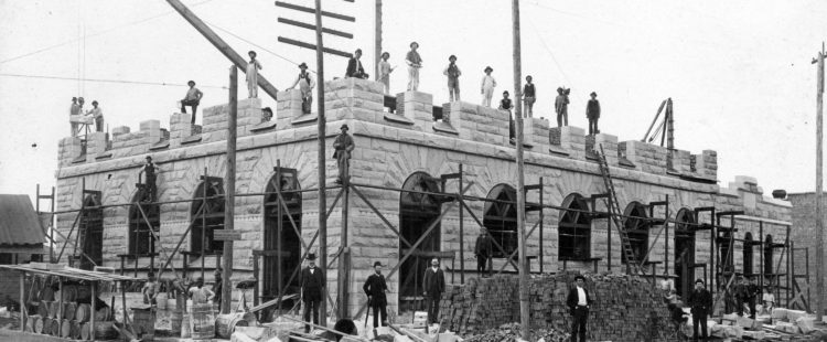 Granville Street post office (now Sinclair Center) under construction, 1891