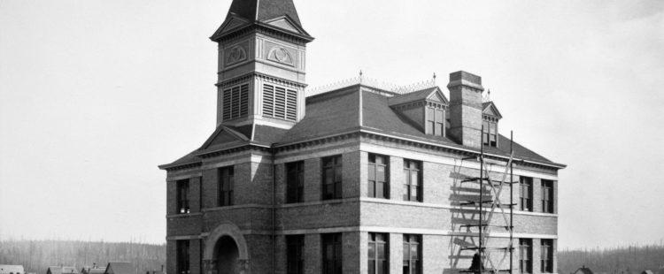 East End (Oppenheimer Street) School, originally located at 522 Oppenheimer Street, moved to Pender and Jackson in 1891. It was renamed Strathcona in 1900.