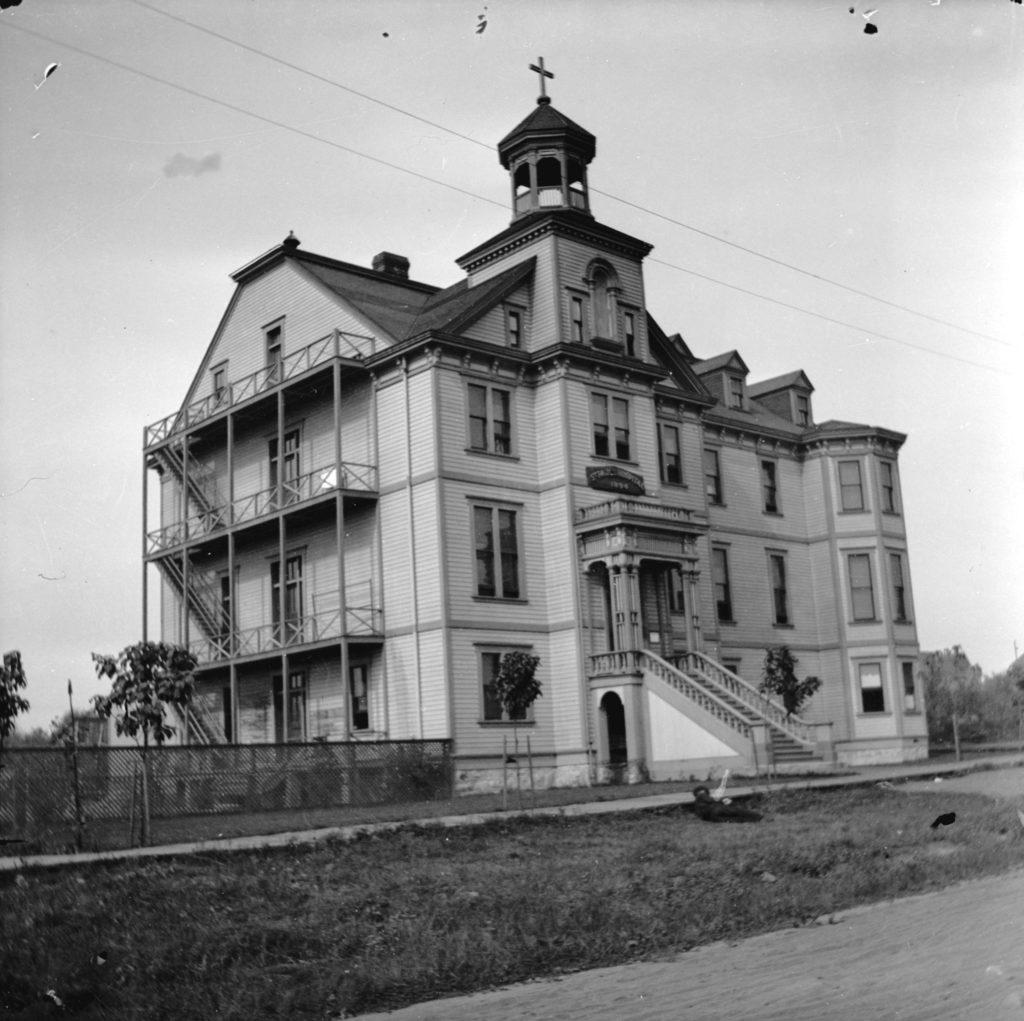St. Paul's hospital on Burrard St., Vancouver ca. 1898