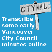 Transcribe some early Vancouver City Council minutes online