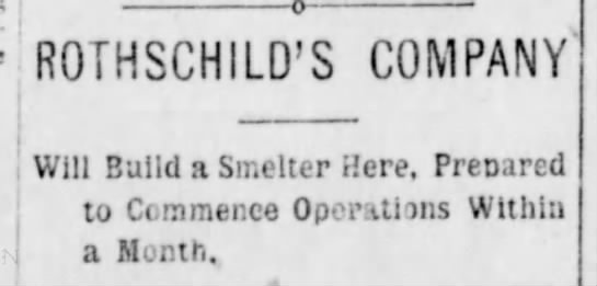 Special Meeting to Review Smelter Proposals – October 12, 1897